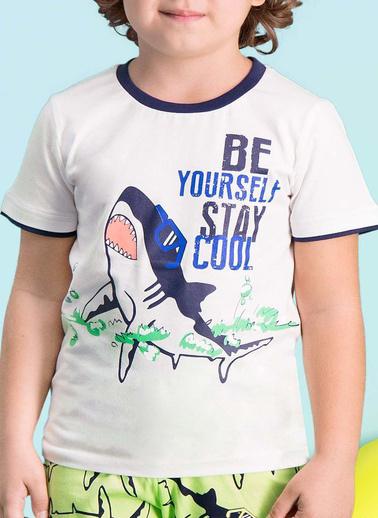 Roly Poly Rolypoly Cool Shark Erkek Çocuk Kapri Takım Krem